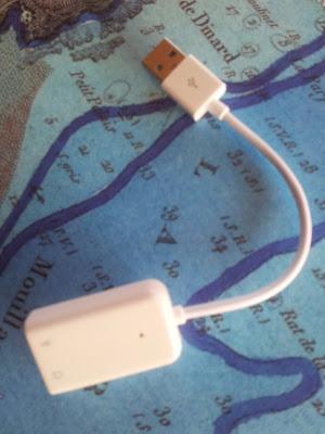 Connecteur mini-jack audio  USB